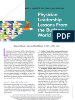 Physician leadership lessons from the business world