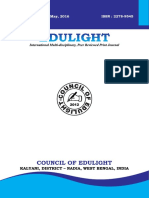 EDULIGHT Volume - 5, Issue - 9, May 2016