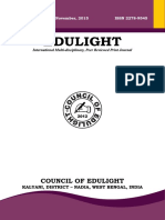 EDULIGHT Volume - 4, Issue - 8, Nov 2015