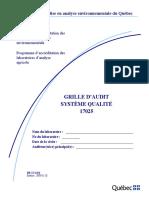 Programme d'Accréditation-Laboratoires Grille Sys Qual 17025