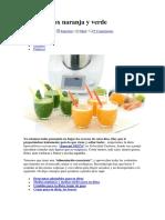 Zumos Detox Naranja y Verde