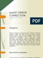 Burst Error Correction