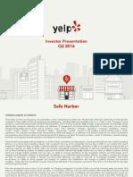 Yelp Investor Presentation 2Q16vFINAL