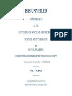 H  P  Blavatsky - Isis Unviled Vol I Science