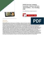 Internal Auditing Assurance & Advisory Services Third Edition Pdf