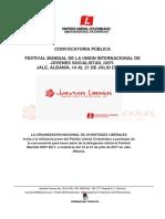 Convocatoria Festival Mundial IUSY 2017 - Juventudes Liberales