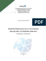 Dissertação_Desindustrialização Da Economia Brasileira No Período 200-2011