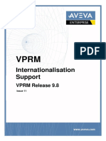 AVEVA VPRM Internationalisation Support