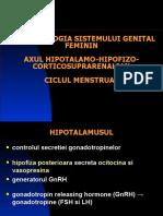 AXUL Hipotalamohipofizar Feminin. Menstruatia