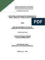Deteccion de Problemas de Aprendizaje Mex