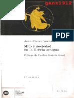 ENSAYO - Vernant, Jean-Pierre - Mito y Sociedad en La Grecia Antigua [Por Ganz1912]