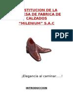 Constitucion de La Empresa de Calzados