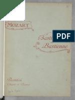 Bastien Et Bastienne - Français - W.a. Mozart