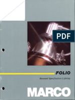 Marco Folio Recessed Specification Lighting Catalog 1986