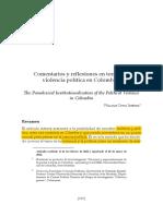 Ortiz Jimenez William-comentarios y Reflexiones a Torno de La Violencia Politica en Colombia