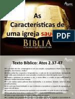 Características de Uma Igreja Saudável