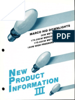 Marco New Product Information III HID Downlights 1986