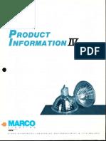 Marco New Product Information IV V100 Low Voltage Trim Brochure 1986