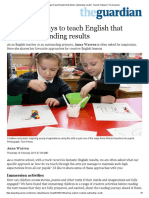 10 Creative Ways to Teach English That Deliver Outstanding Results _ Teacher Network _ the Guardian