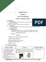 Sample of Lsson Plan - Reading Skills