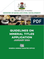 Guidelines for Mineral Title Applications