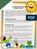 Programas Del Icbf en Atención Integral a La Primera Infancia