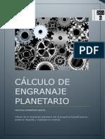 Cálculo engranaje planetario