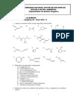 Practica ALQUENOS- Quim Organica - 2016-II