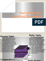 Out of the Box Teaching Strategies