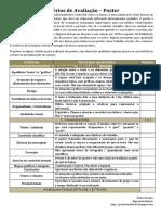 Poster - Critérios de Avaliação