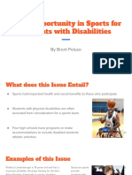 equal opportunity in sports for students with disabilities