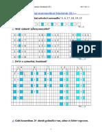 1. Osztályos Év Végi Matematikai Feladatok (B.)