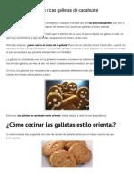 ¿Cómo Hacer Galletas de Cacahuate Estilo Oriental