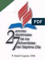 Daniel Gagnon - 27 Errores Doctrinales de Los Adventistas Del Séptimo Día