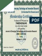 Reviewe Member Certificate 111625