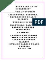 """203 INFORME """"EDUCACION PARA LA NO VIOLENCIA"""""""