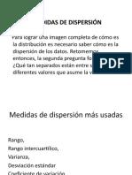 Clase de Medidas de Dispersion