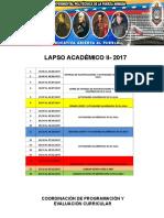 Cronograma Lapso II-2017 (2)