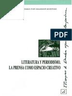 Literatura y Periodismo La Prensa Como Espacio Creativo