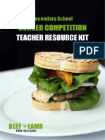 burger competition in school resource kit