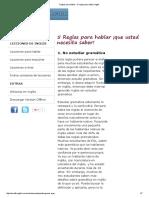 Reglas Para Hablar - 5 Reglas Para Hablar Inglés