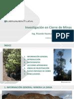Jm16022017 Investigaciones en Cierre de Minas La Zanja