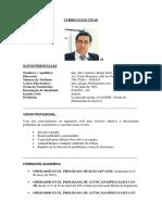 Curriculum Vitae Alex Aliaga