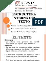 Estructura Interna Del Texto