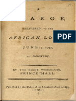 A Charge, Delivered to the African Lodge