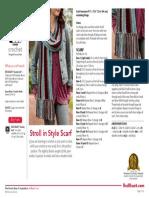 LW5162 Stroll in Style Scarf Free Crochet Pattern