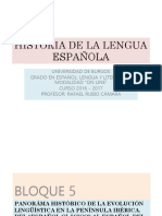 HISTORIA DE LA LENGUA ESPAÑOLA V - PANORAMA HISTÓRICO DE LA EVOLUCIÓN LINGÜÍSTICA EN LA PENÍNSULA IBÉRICA - SIGLOS XVI - XXI.pptx