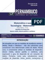 Medidas de dispersão desviomédio  desvio-padrão e variância.ppt