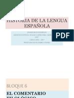 Historia de La Lengua Española Vi - El Comentario Filológico