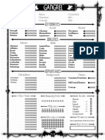 Victorian Age Vampire Sheet - Editable Gangrel